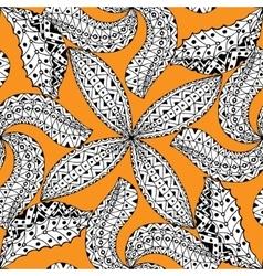 Black and orang pattern vector