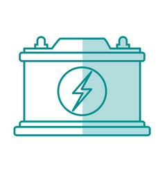 Blue silhouette shading of car battery icon vector
