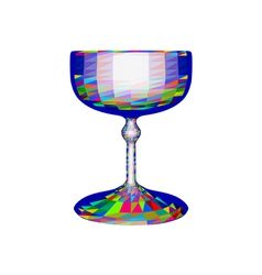 Champagne saucer vector
