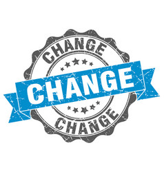 Change stamp sign seal vector