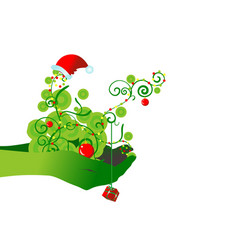 chrismas backdrop vector image vector image