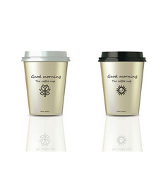 coffee cups realistic set mock up design vector image
