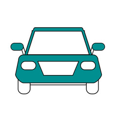 Color silhouette image front view automobile vector