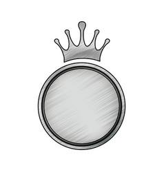 crown decorative emblem vector image