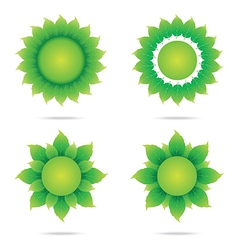 Eco sunflower 2 vector image vector image