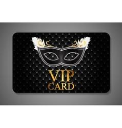 Elegant dark vip card vector