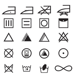 fabric care symbols vector image
