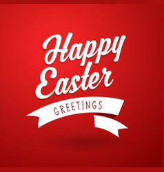 Happy easter holiday greeting card template vector