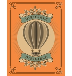 Hot Air Balloon in retro style vector image vector image