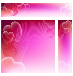 Love Website Banners vector image vector image