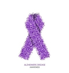 modern ALZHEIMERS DISEASE awareness circles vector image