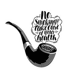 No smoking lettering typographic design tobacco vector