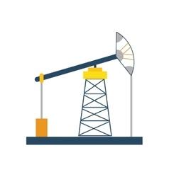 Oil pump icon oil industry design graphic vector