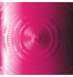 Pink abstract techical background circle design vector