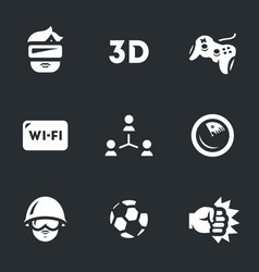 Set of video games icons vector