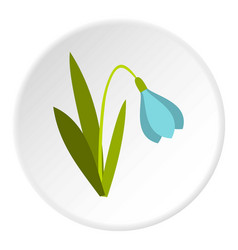 snowdrop icon circle vector image