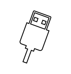 Usb connection isolated icon design vector