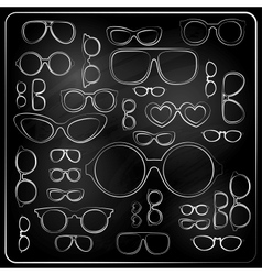 vitnage set from chalk glasses vector image vector image