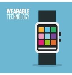Wearable technology smartwatch design vector