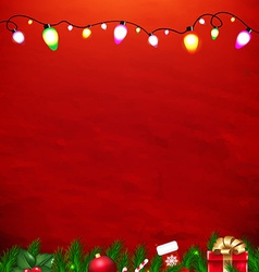 Xmas red card vector