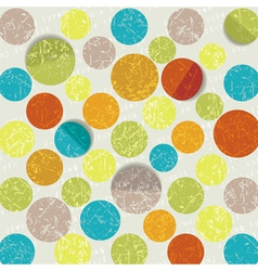 Retro circle pattern background vector