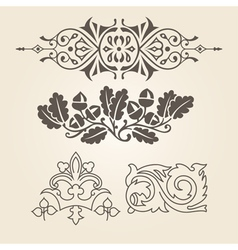 Set of antique decorative elements vector
