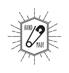 Hand made design vector