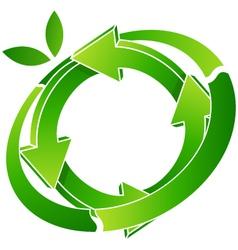 logo recycling vector image