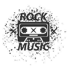 rock music band black white logotype classic old vector image
