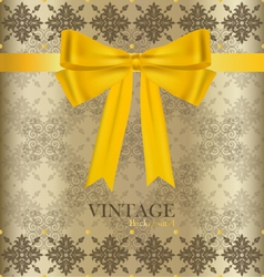 Vintage background with golden ribbon vector