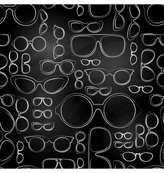 Seamless pattern from chalk glasses vector