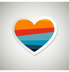 Abstract paper retro heart symbol vector