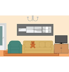 Living room background vector