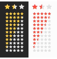 Rating stars isolated vector image