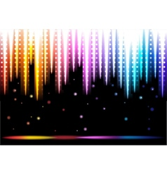 Disco colorful background vector