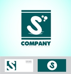Letter s logo green icon vector