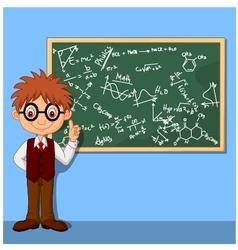 Cartoon smart boy vector