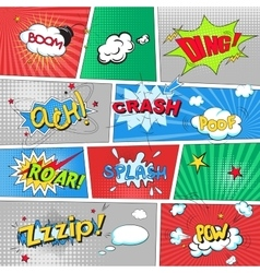 Comic colored speech bubbles in pop art style vs vector