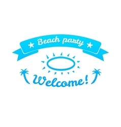 Summer sign retro typography sea and beach logo vector