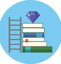 Way to knowledge wealth concept flat design icon vector