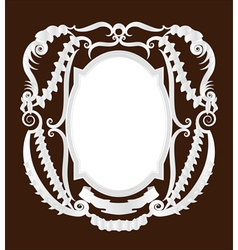 Empty pirate frame vector