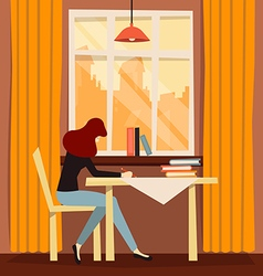 Cozy workplace vector