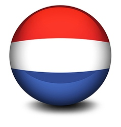 A soccer ball from Netherlands vector image