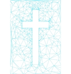 abstract background with cross vector image