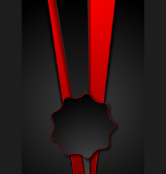 Abstract red black tech corporate background vector