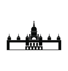 Almudena Cathedral Madrid icon simple style vector image