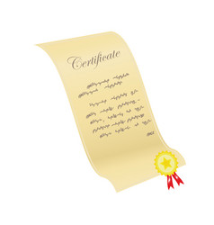 Certificate with a sticker vector