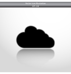 cloud web flat icon vector image