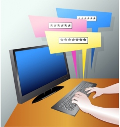 computer blog vector image