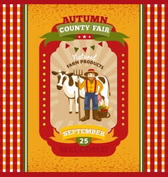 county fair vintage invitation card vector image